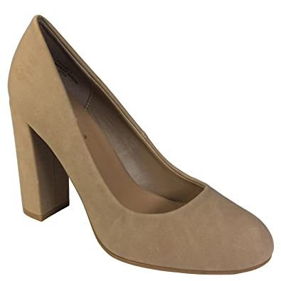 Amazon.com | Bamboo Women's Chunky Heel Pump | Pumps
