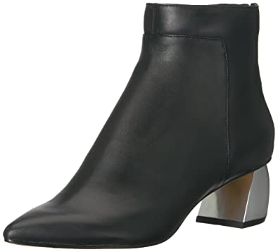 Dolce Vita Women's Jonn Fashion Boot, Black Leather, 10 Medium US