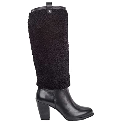UGG Women's Ava Exposed Fur Black/Black Boot 6 B ...