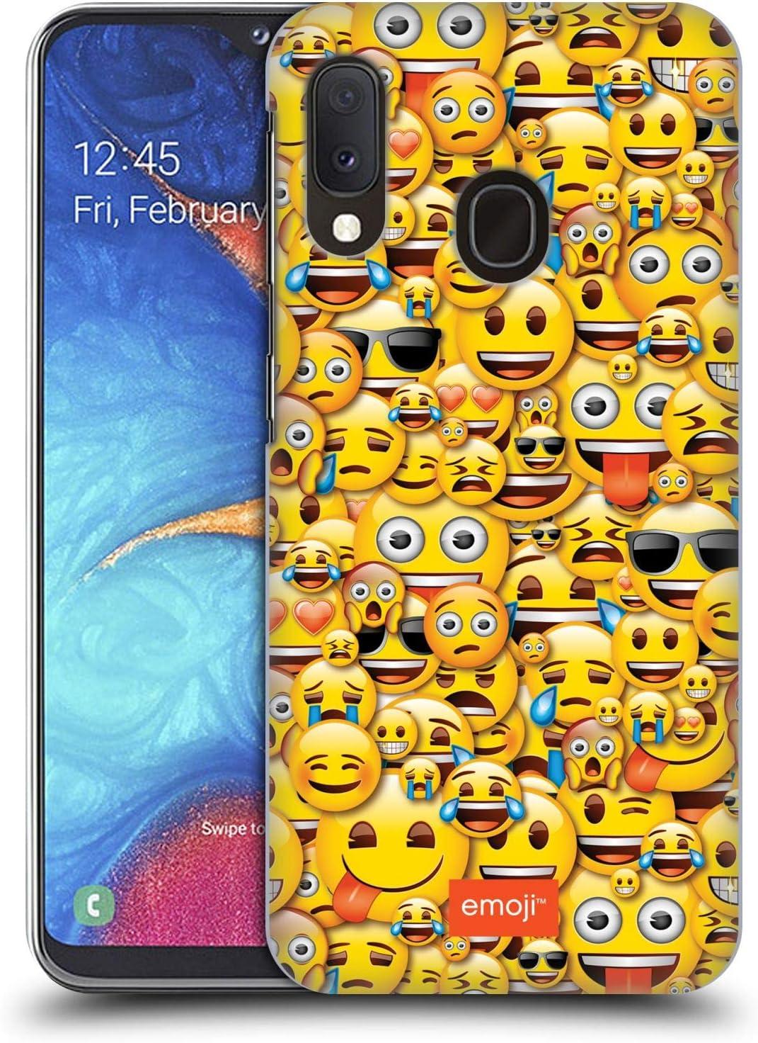 Head Case Designs sous Licence Officielle Emoji® Smileys Modèles Pleins Coque Dure pour l'arrière Compatible avec Samsung Galaxy A20e (2019)