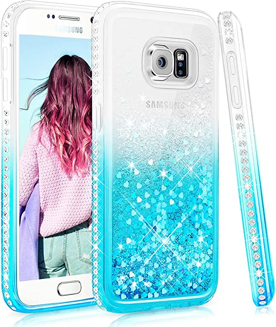 Amazon.com: Galaxy S7 Edge Glitter Case