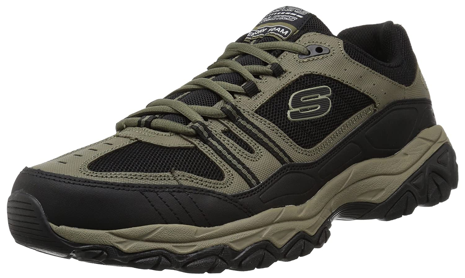 Skechers Men's After Burn Memory Fit Strike Off Lace Up Sneaker