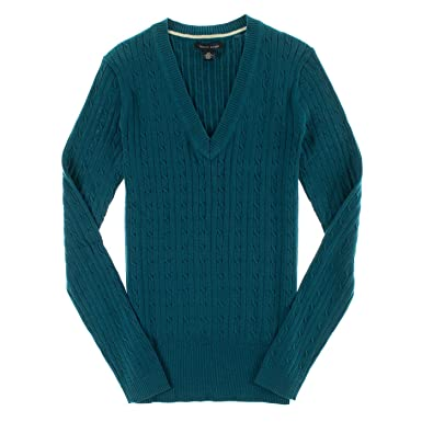 Tommy Hilfiger Women's V-Neck Sweater at Amazon Women's Clothing ...