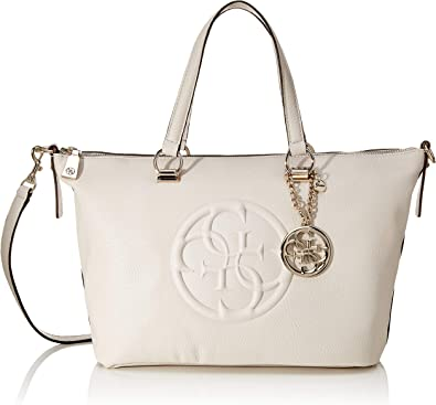 GUESS Korry Crush Satchel Bone: : Bagages