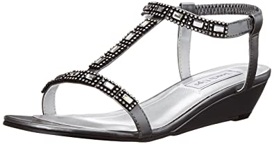 Touch Ups Women's Jazz Wedge Sandal, Pewter, ...