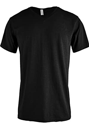 TL Men Casual Basic Short Sleeve Tri-Blend / 100% Cotton V-Neck T ...