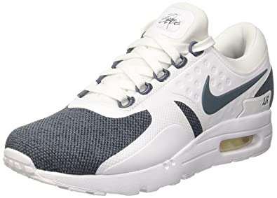 Men's White, Black, Blue Nike Air Max Zero SE Shoe 918232