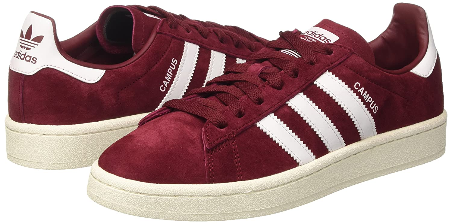 Amazon.com | adidas Originals Unisex Campus Unisex Burgundy Sneakers |  Fashion Sneakers