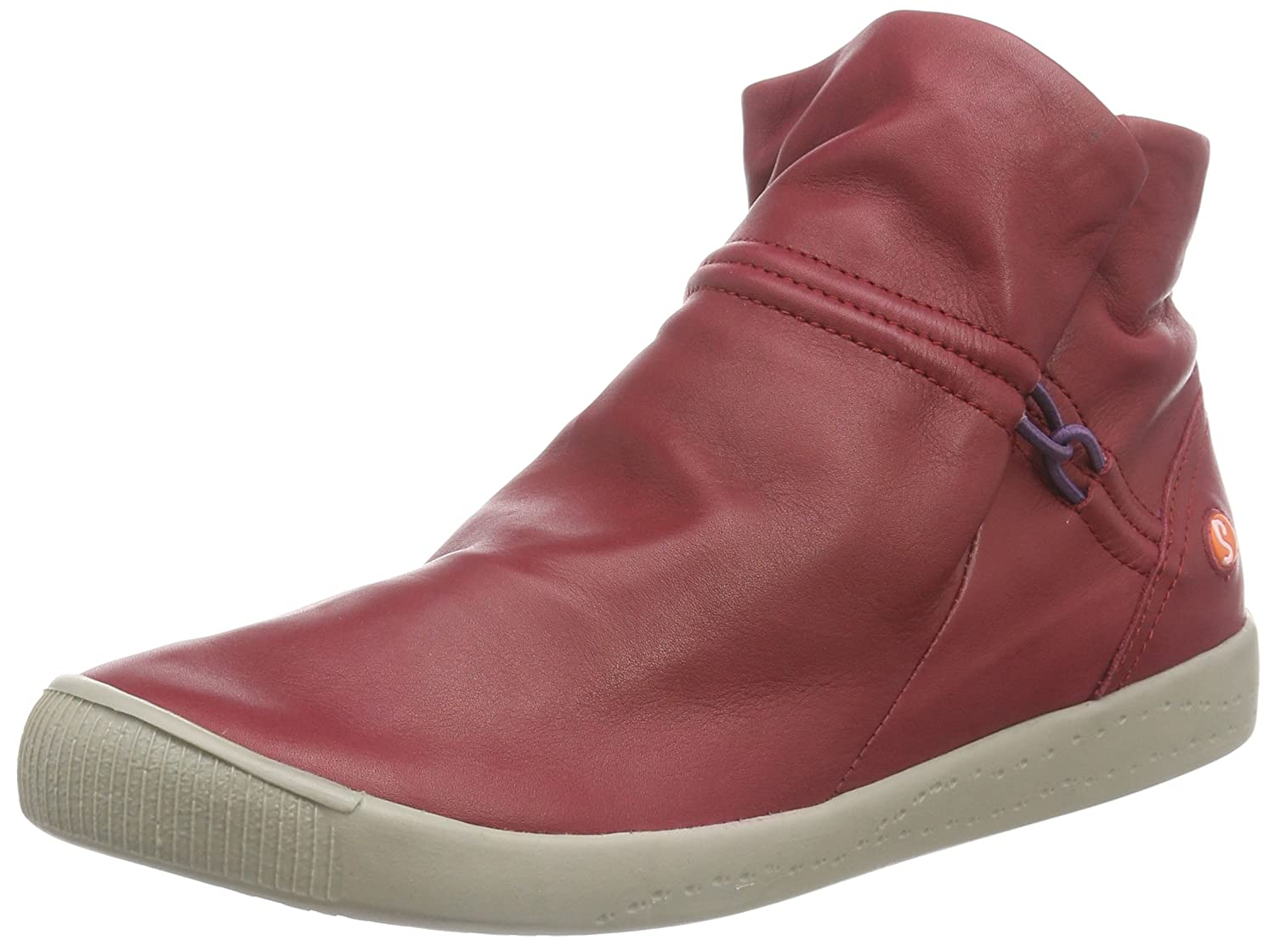 Softinos Women's Irelia smooth Cold lined slip-on boots short length