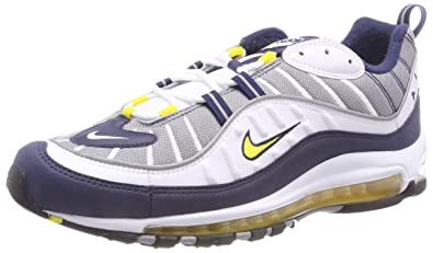 NIKE Air Max 98, Chaussures de Gymnastique Homme, Multicolore (White/Tour Yellow