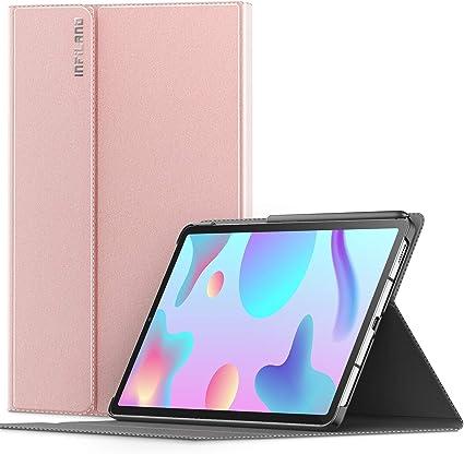 INFILAND Coque pour Samsung Galaxy Tab S6 Lite 10.4 (P610/P615) 2020, Housse Coque de Protection Multi-Angle et Veille/Réveil Automatique, pour Tab S6 ...