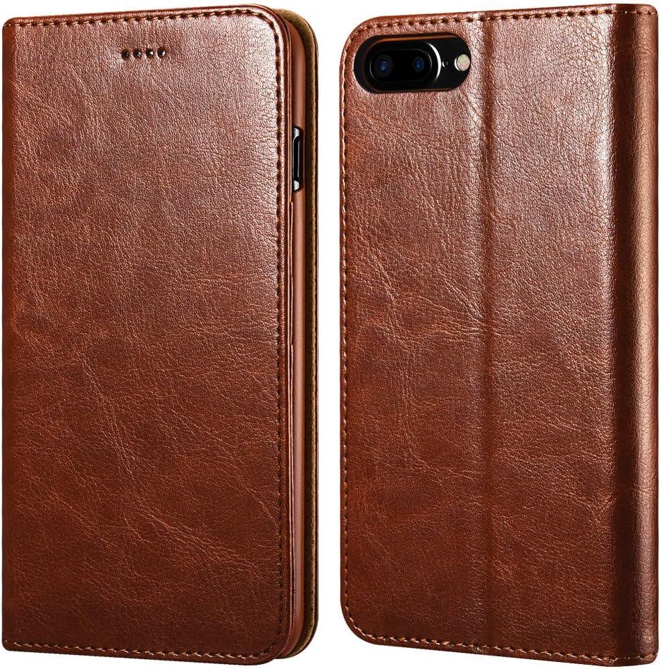 icarercase iPhone 7 Plus/8 Plus Wallet Case, Premium PU Leather Folio Flip Cover with Kickstand and Credit Slots for Apple iPhone 7 Plus/8 Plus 5.5 ...