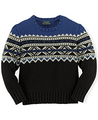 Amazon.com: Ralph Lauren Polo Boys Fair Isle Nordic Sweater (4 4T ...