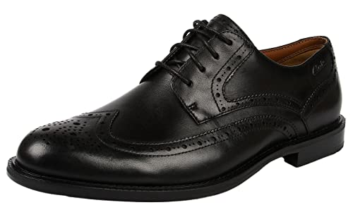 Clarks Dorset Limit, Scarpe con lacci Richelieu da uomo, nero (black  leather)