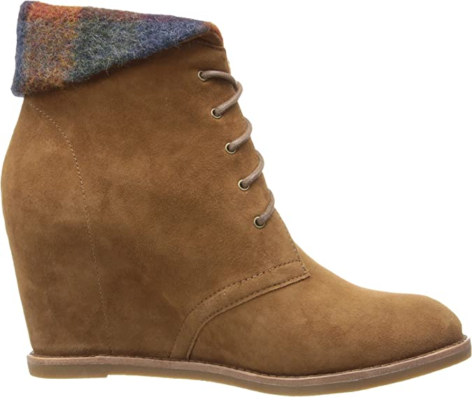 Amazon.com | Johnston & Murphy Women's Brynn Chukka Cognac Kid Suede/Spice  Wool Plaid Boot | Boots