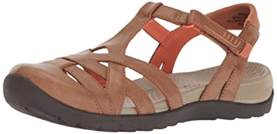 BareTraps Womens Fayda Closed Toe Walking Strappy Sandals, Brown, Size 5.0