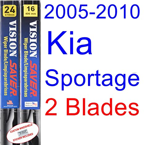 2005 – 2010 kia sportage hoja de limpiaparabrisas de repuesto Set/Kit (Saver Automotive