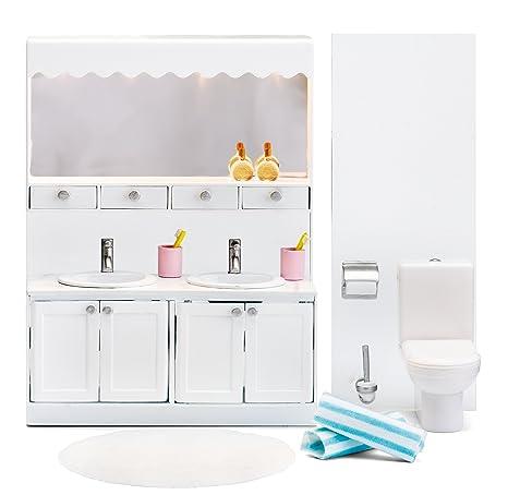 1a004d563d7e Amazon.com: Lundby Smaland Dollhouse Bathroom Set: Toys & Games
