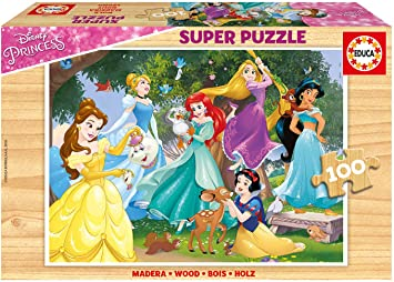 Educa- Disney Princess Puzzle Infantil de 100 Piezas, a Partir de 6 años (17628): Amazon.es: Juguetes y juegos