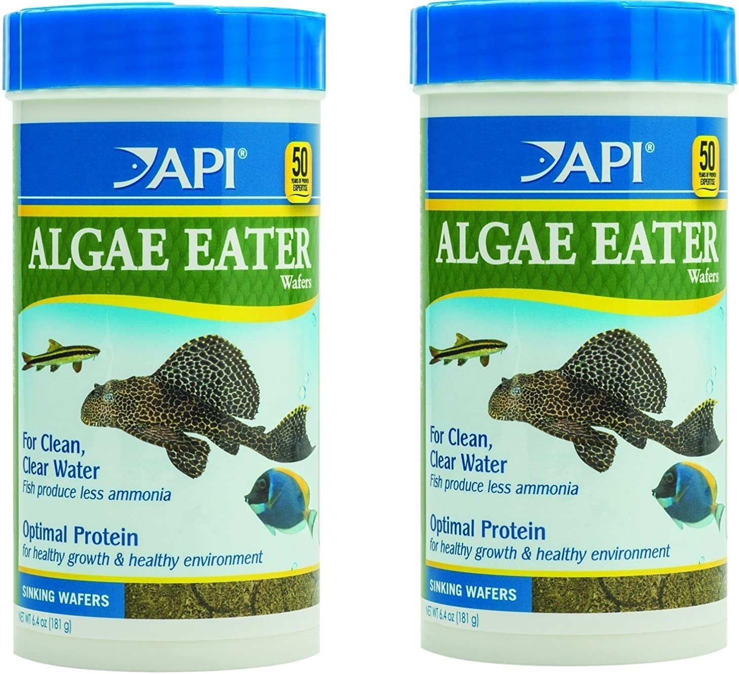 (2 Pack) API Algae Eater Alage Wafer, 6.4-Ounce Jars