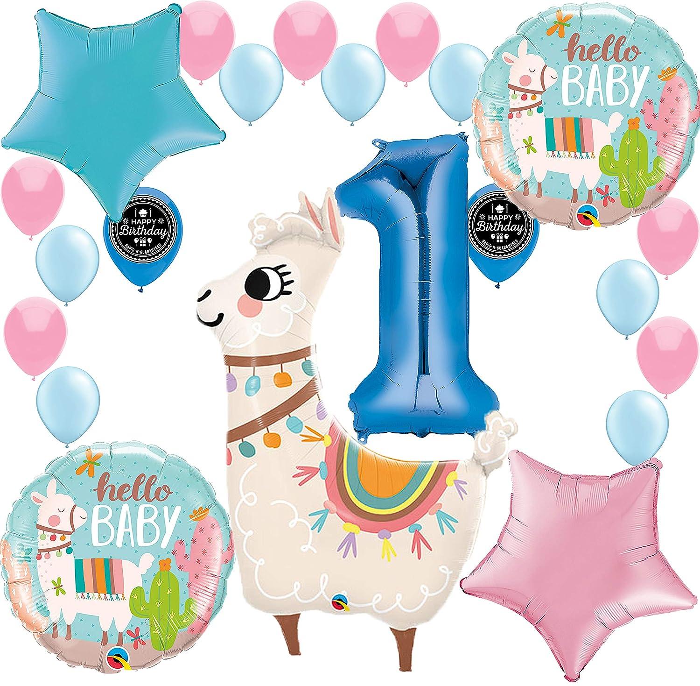 7f03c94b3322c Amazon.com: Baby Llama Baby Shower Gender Reveal 1st Birthday Party ...