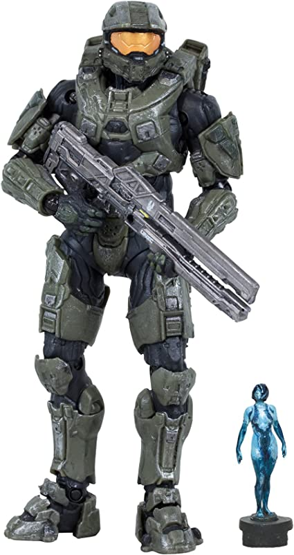 Mcfarlane Toys Halo 4 Series 2 Master Chief With Railgun And Micro Ops Cortana