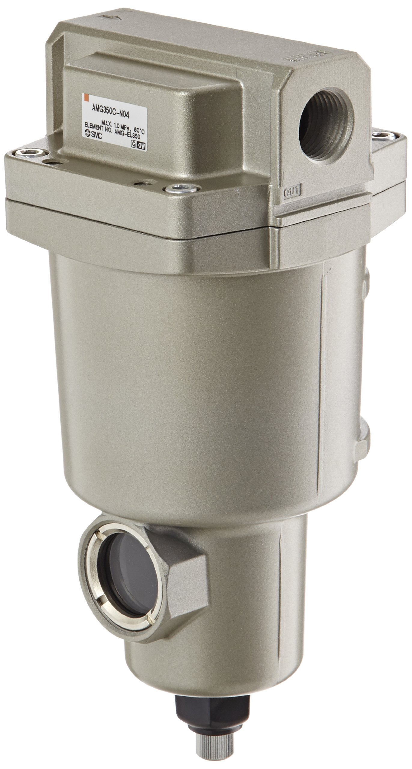 SMC AMG350C-N04 Water Separator, Manual Drain, 1,500 L/min, 1/2'' NPT by SMC