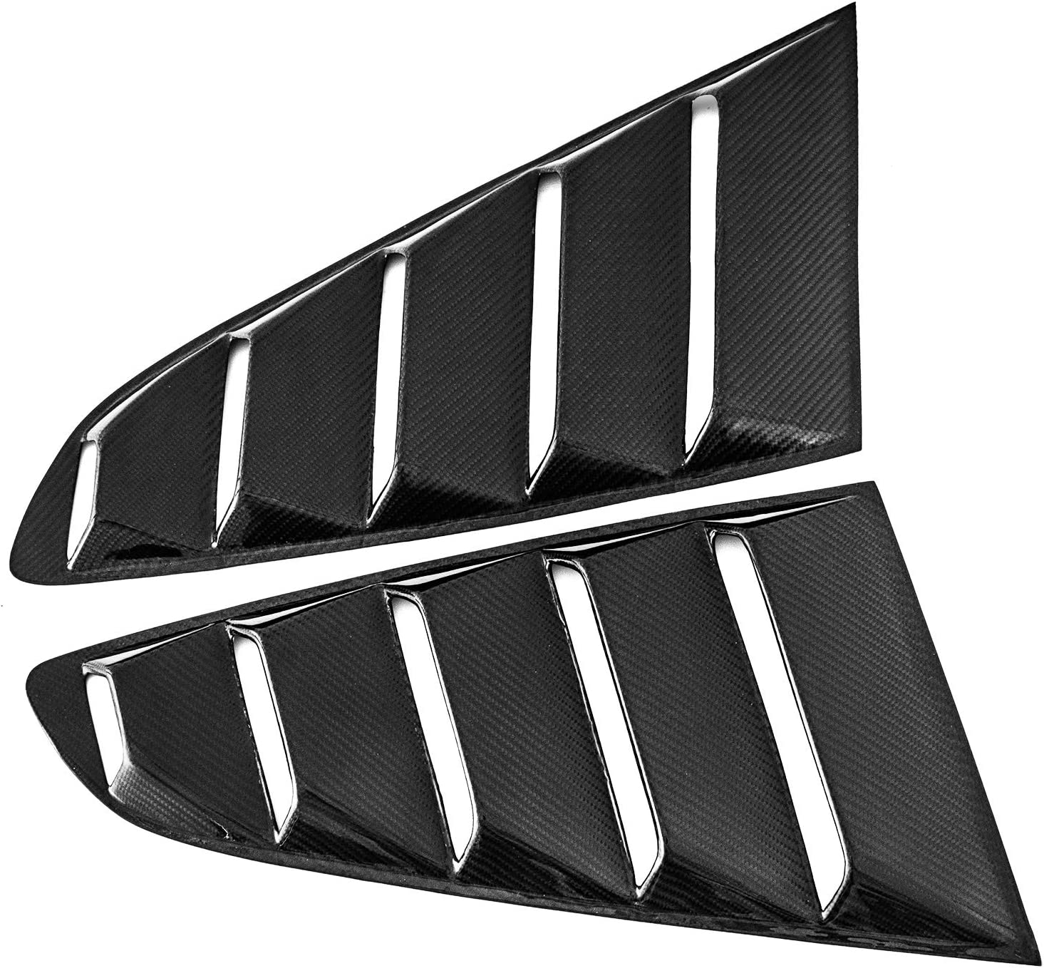 Bestauto Carbon Fiber Side Window Side Window Fender Louvers Shield Fit for Ford Mustang 2015-2018 GT Quarter Scoop Louver Cover