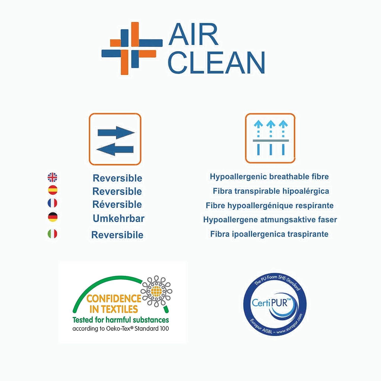   Ossigenazione totale Copertura lavabile fino a 60/º Materasso per Culla Air Clean 117 x 57 cm Reversibile