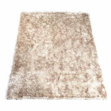 tapis shaggy beige 60 x 120 cm - Tapis Shaggy
