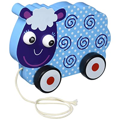 Imagination Generation Wooden Wonders Push-n-Pull Swirly Sheep Toy: Toys & Games