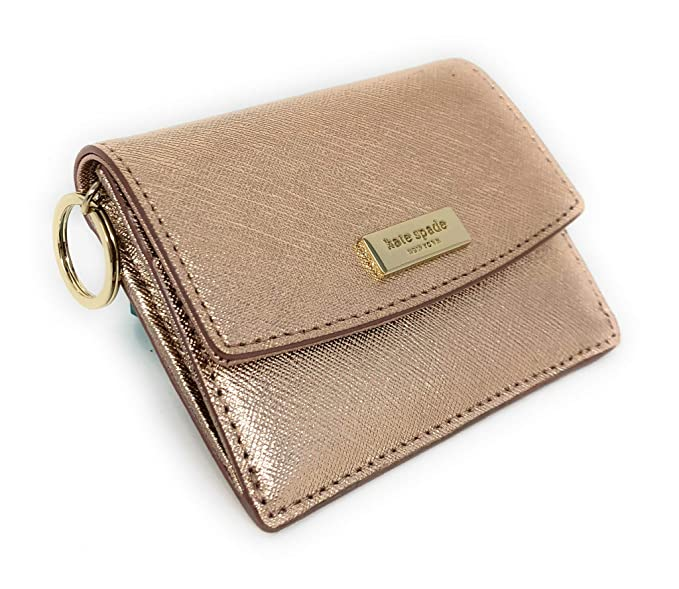 57cc3a3f654 Amazon.com  Kate Spade New York Laurel Way Petty Wallet Id Key Ring Holder Rose  Gold  C B Products