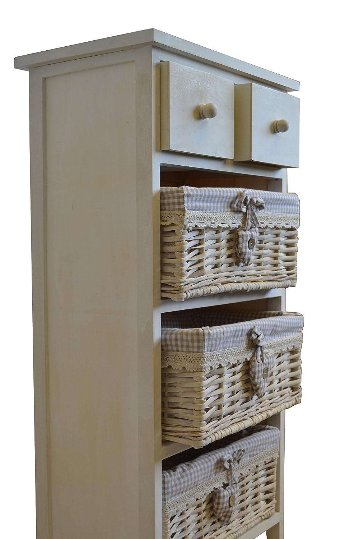 Wicker Basket Cabinet White Shabby Chic Rattan Wicker Storage Cabinet Amazoncouk