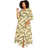 Astra Signature Women's Flowy Cover up Amarie Resort Kimono Cardigan Open Front Maxi Dress One Size