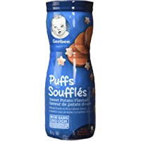 GERBER PUFFS, Sweet Potato, Baby Snacks, 6 x 42 g (Pack of 6)