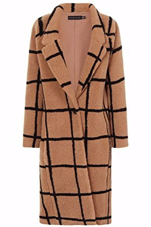 discount collection top-rated original 50% price Oversized Check Boyfriend Coat in Camel: Amazon.co.uk: Clothing