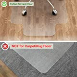 LANGRIA Office Desk Chair Mat with Lip for Hard