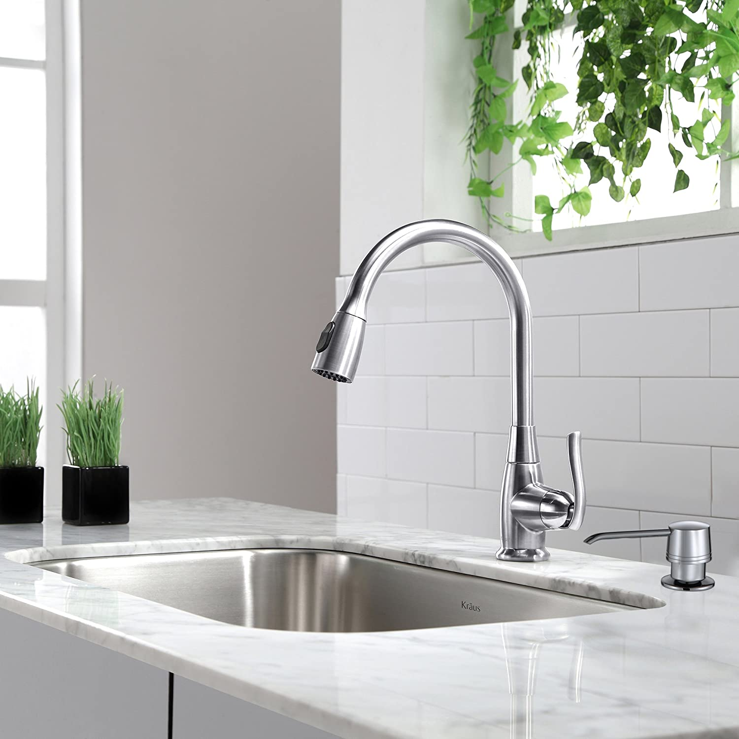 Kraus KPF-2230CH Single Lever Pull Out Kitchen Faucet Chrome - Touch ...