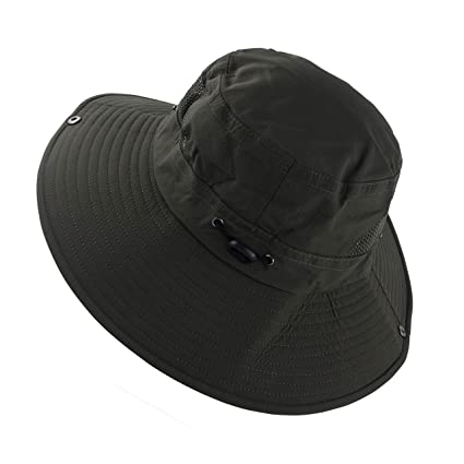 Amazon.com  wmMuryobao Outdoor Sun Protection Wide Brim Bucket Hat ... f6a36313b7d