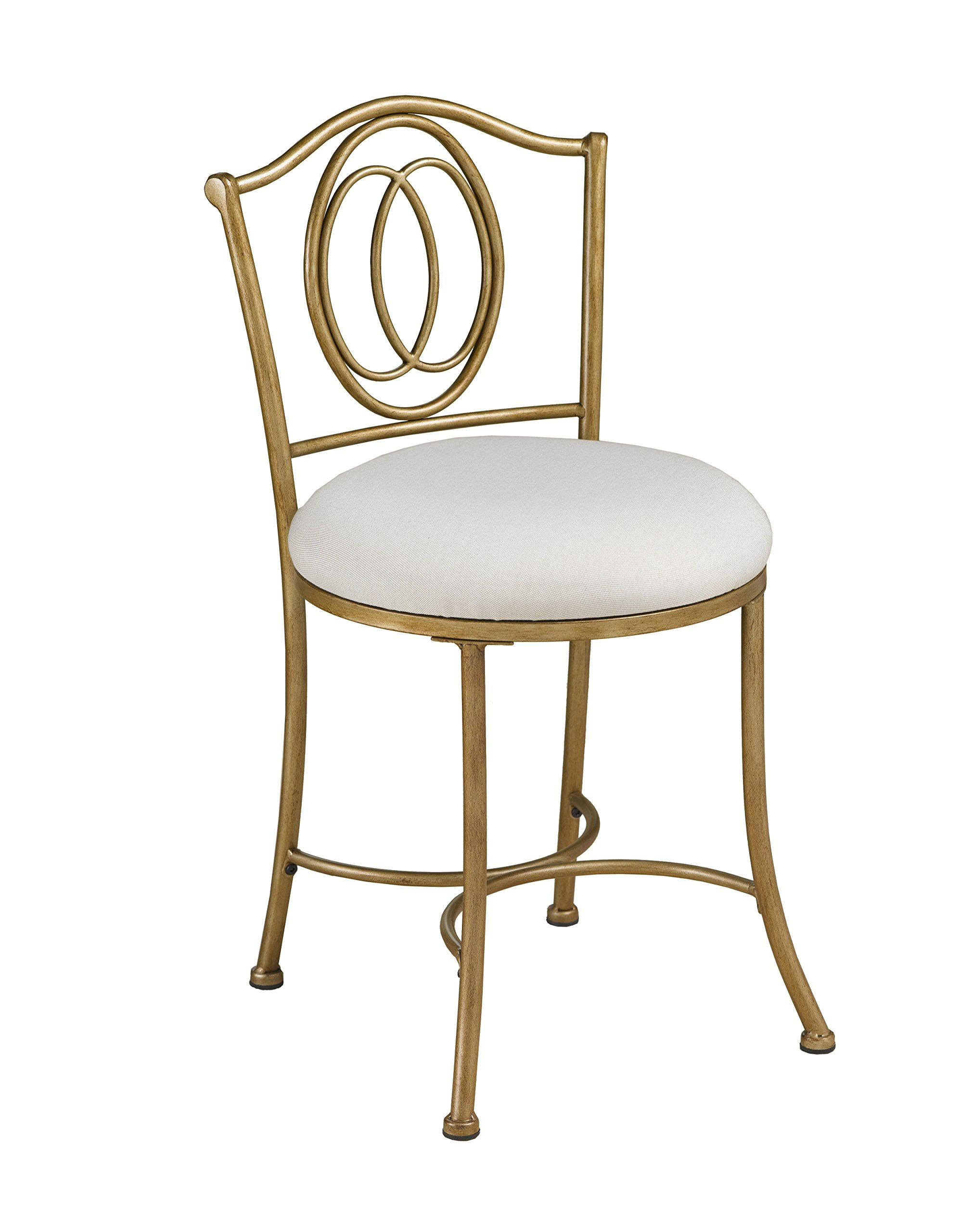 Hillsdale Emerson Vanity Stool, Golden Bronze by Hillsdale Furniture