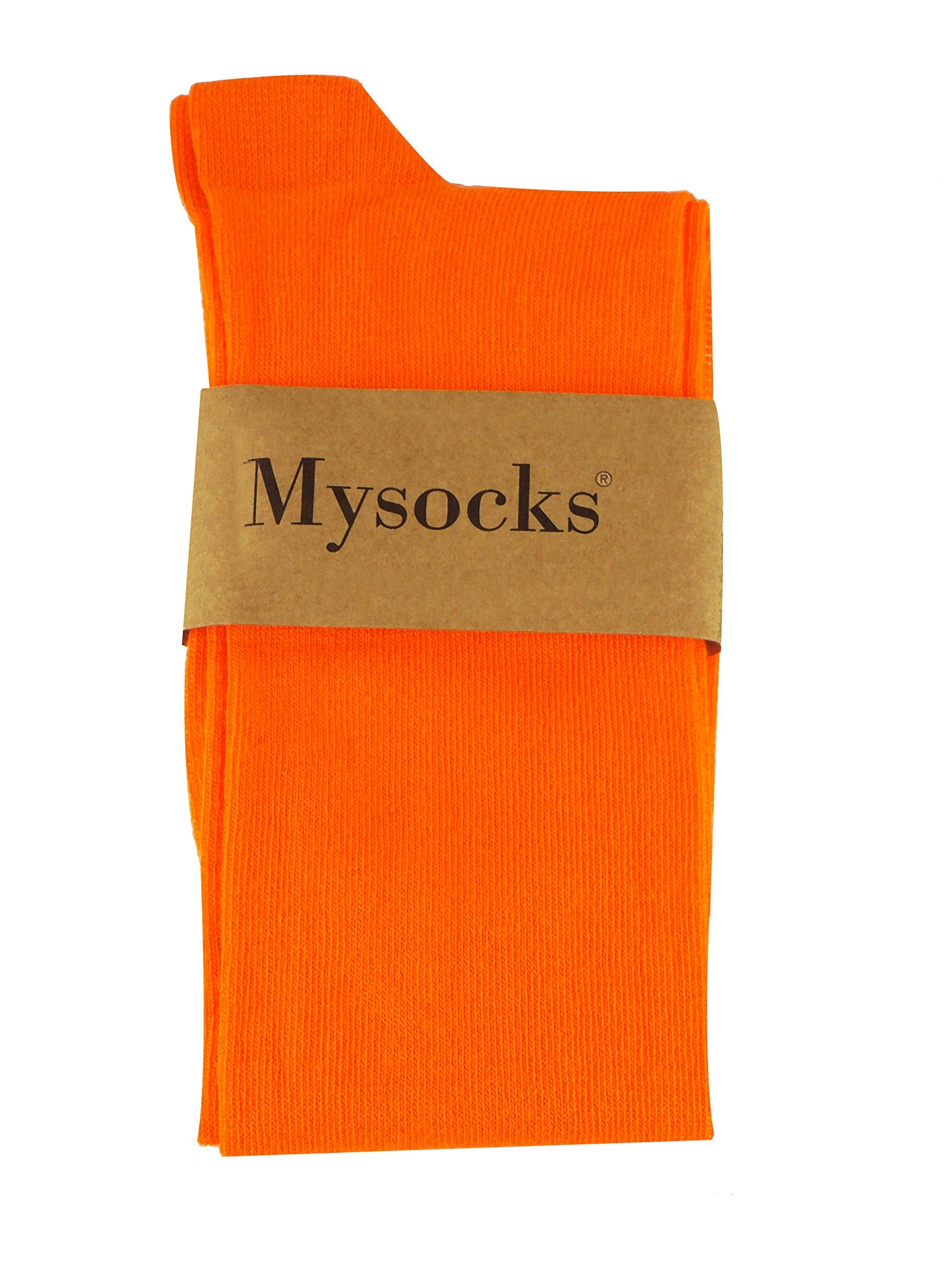 Mysocks Unisex Knee High Long Socks Orange,4-7 by MySocks (Image #7)