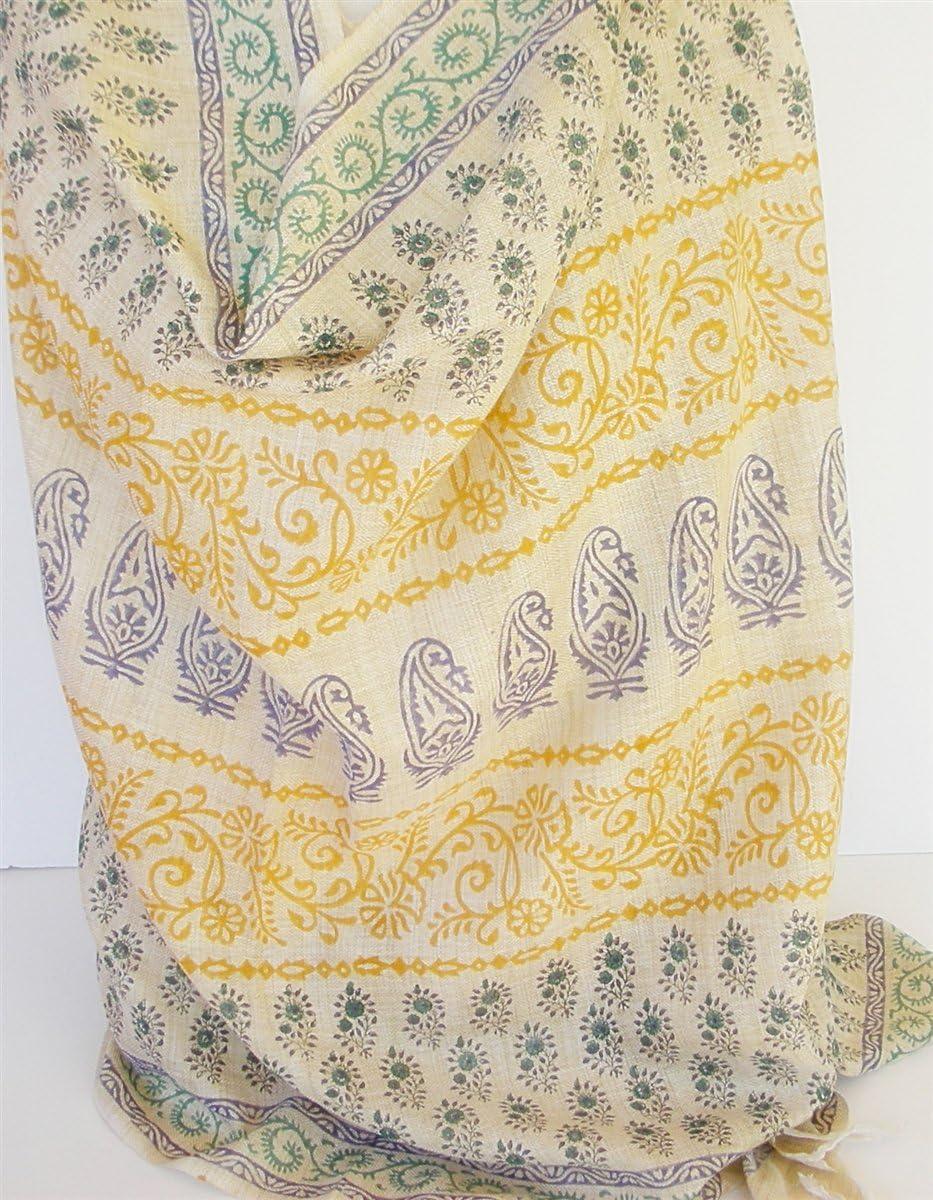 handmade Khadi Cotton Wrap Spread with Paisley