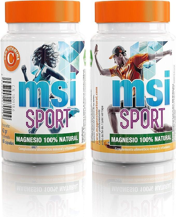 MSI Magnesio Natural con Vitamina C - 60 Cápsulas: Amazon.es ...
