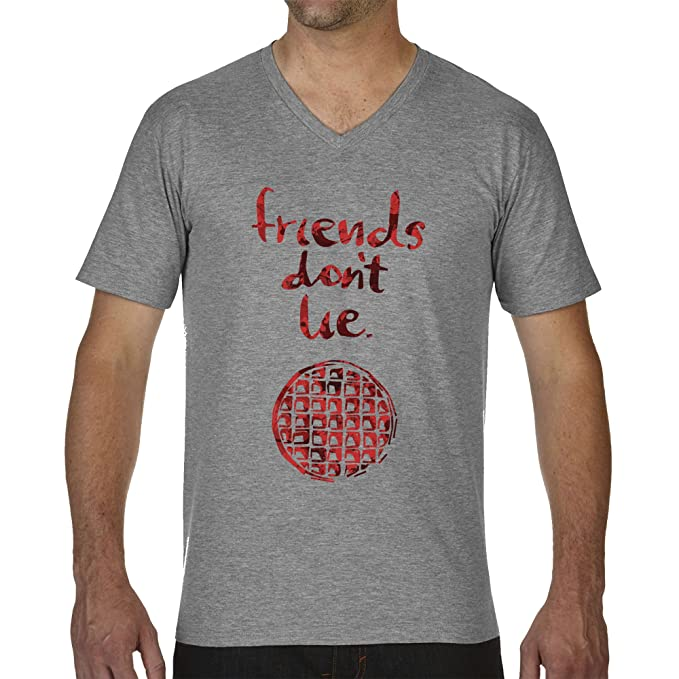 Amazon.com: Friends Dont Lie by Stranger Things Mens T-Shirt V Neck: Clothing