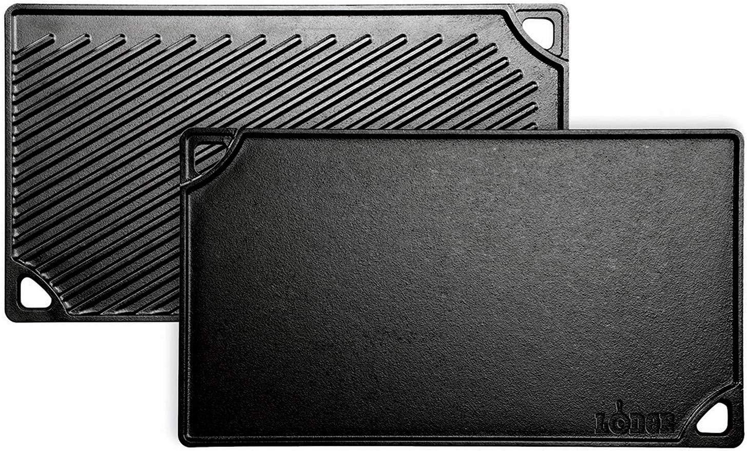 Lodge Plancha Grill rect. Reversible-Hierro Fundido 42x24cm INLODGE.LDP3, Inoxidable, 42 x 24cm
