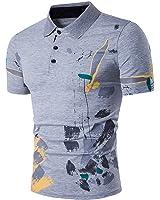 Carolyn Jones New Casual Men Polo Shirt Fashion Flower Print Polo Homme Slim Fit Short Sleeve