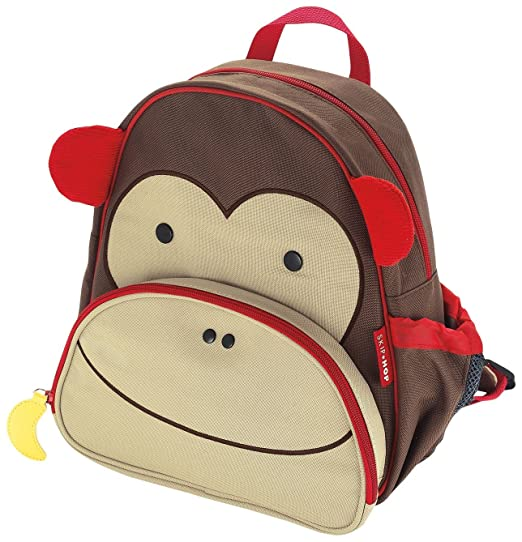 Skip Hop Zoo Toddler Kids Insulated Backpack Marshall Monkey Boy, 12 inches, Brown