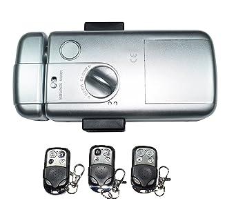 Electrónico Mando a distancia cerradura de puerta Invisible automáticamente Intellisense sistema de bloqueo doble independiente: Amazon.es: Oficina y ...