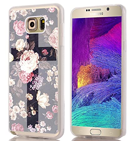 check out 2ea50 39648 Note 5 Case Cross Design - Case for Galaxy Note5 - Protector Cover for  Samsung Note 5 - Flower Unique Designer Slim Pattern (Slim Flexible TPU ...