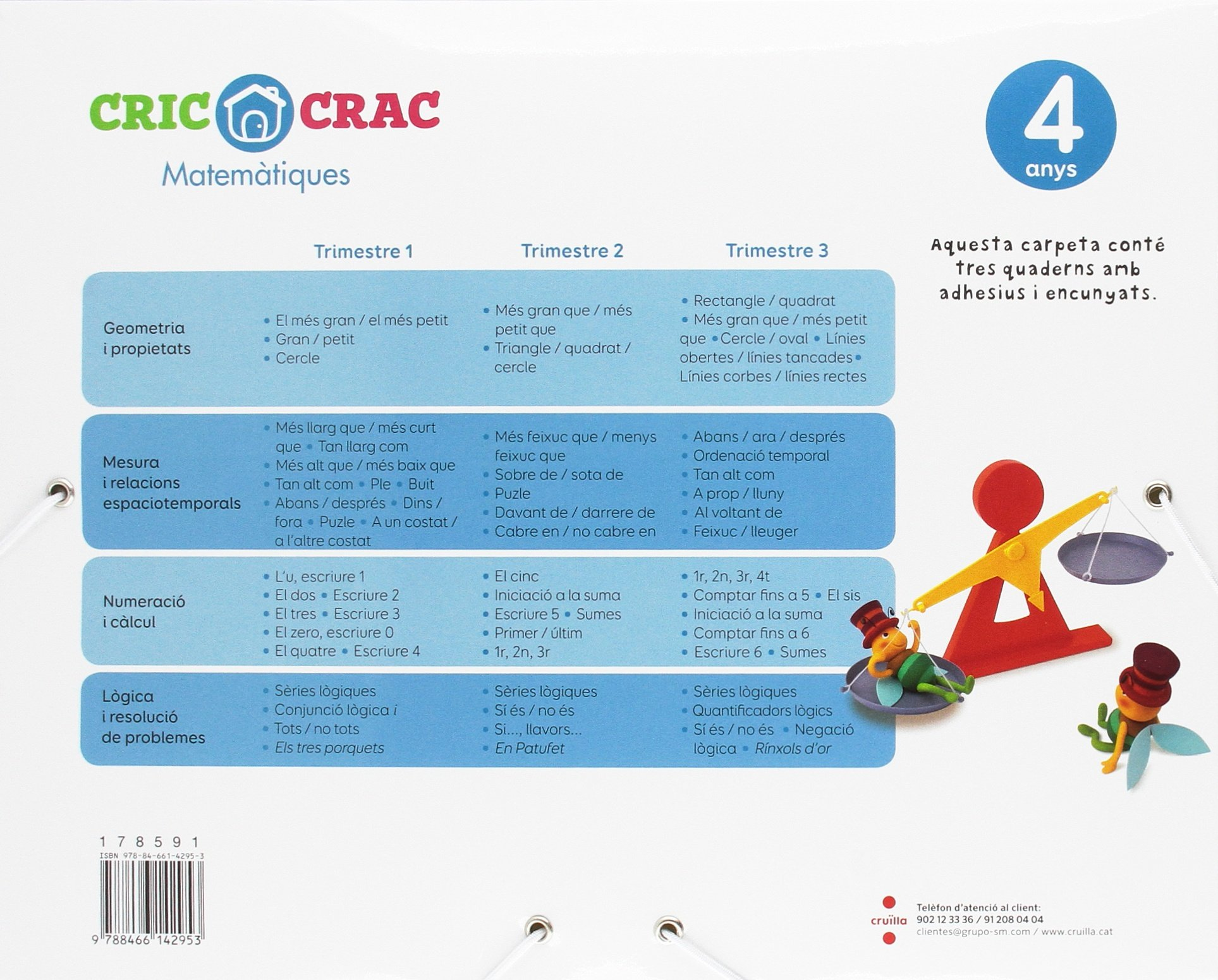 Matemàtiques. 4 anys. Cric-Crac: Amazon.es: Javier Bernabeu Ruiz, David Arumi Casanovas, Carles Martí, Artur Laperla, Ana Villalba Hernández, ...